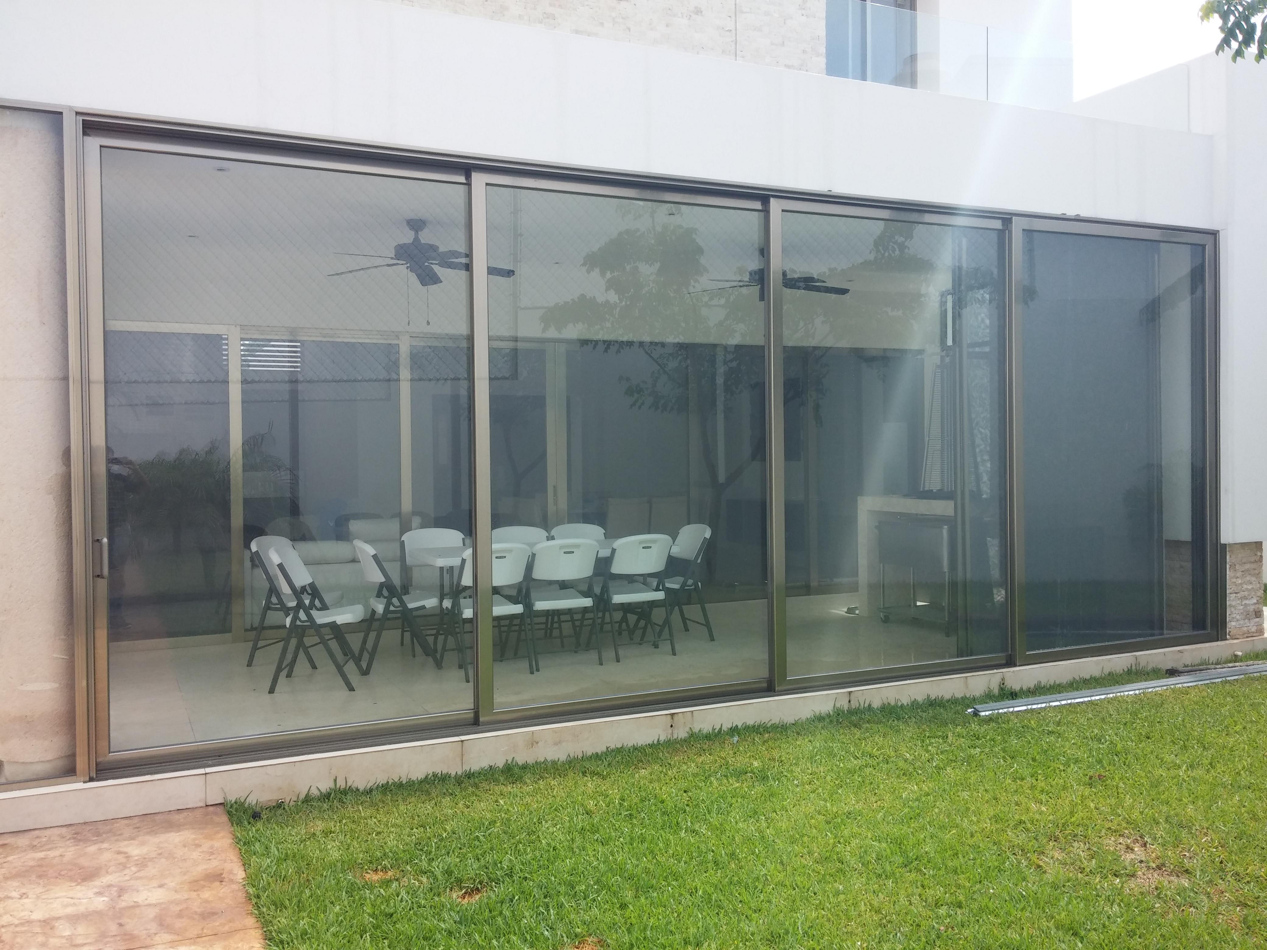 Puertas de aluminio para terrazas great afandecor - Puerta terraza aluminio ...