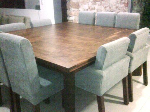 Mesa madera r stica comedor 150 for Comedores 8 sillas chile