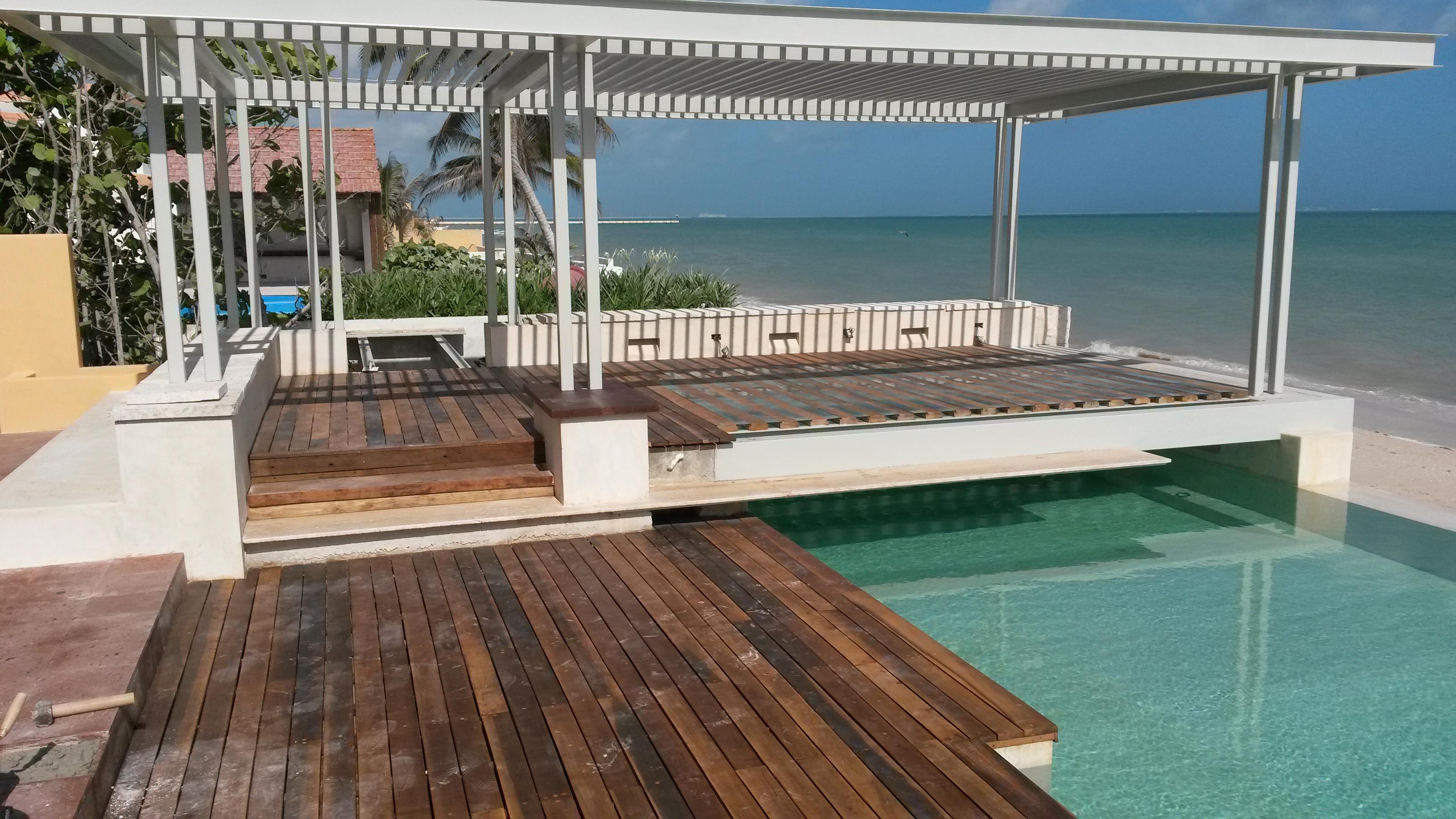 Techos de herreria para terrazas realizamos techos de for Hacemos piscinas