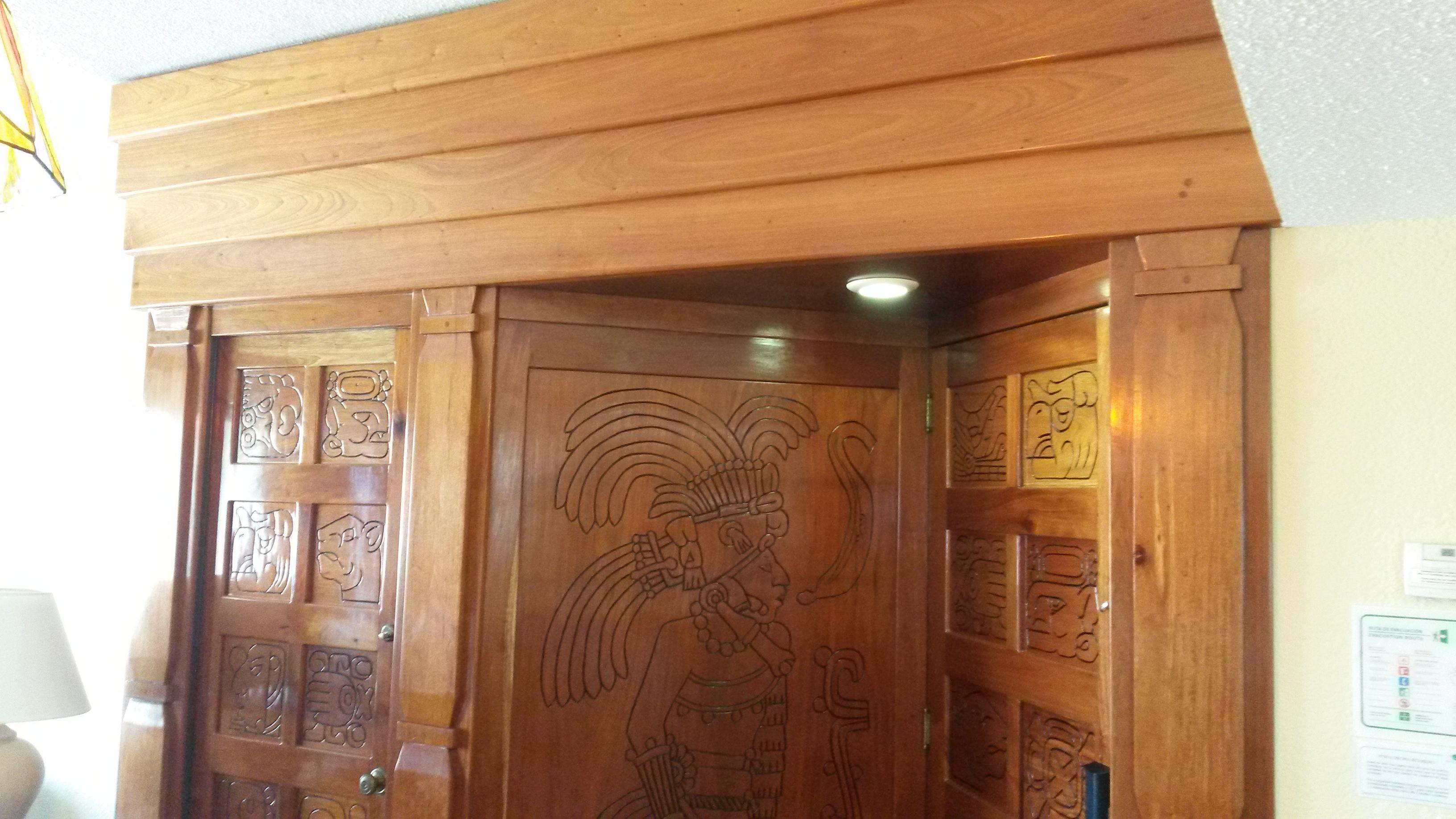 Royal mayan - Dintel de madera ...